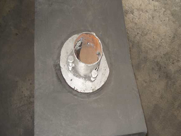 Tapping hole of converter