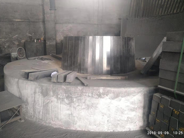 Prefabricated furnace bottom